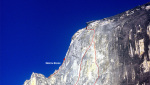 Rockfall on Half Dome Regular Northwest Face route in Yosemite