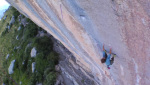 Chris Sharma climbing Three Degrees of Separation at Céüse