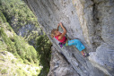 Angela Eiter waltzes an 8b/+ onsight in Lechtal, Austria
