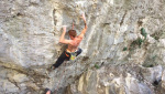 Gabriele Moroni frees Sid Lives 9a at Nago (Arco)