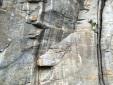 Trad climbing at Balmanolesca, Italy
