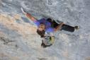 Alex Luger climbing Rätikon's Gift