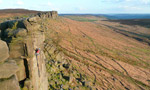 Stanage Edge, rock climbing in England