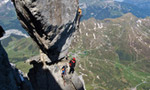 Stephan Siegrist frees Magic Mushroom on the Eiger North Face