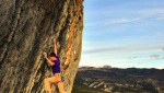Klemen Bečan frees 9a+ at Oliana in Spain