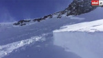 Ahrntal, the video of the Schneebiger Nock avalanche fracture line