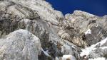Monte Costone, prima salita in Piolet-traction del Camino a sinistra della Vetta