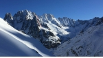 Aiguille du Moine SE Face, new direct variation skied by Boissenot, Roguet, Gentet and Brunel