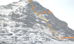 Ueli Steck races the Eiger North Face in 3 hours 54 minutes