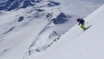 Matterhorn East Face ski descent: in the right place at the right time