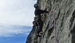 New rock climb up Coste dell'Anglone in Valle del Sarca, Italy