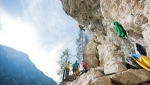Stube, the new sport climbing crag in Höhlensteintal, Dolomites