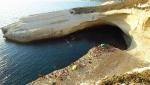 Zestos Psicobloc deep water solo climbing competition in Sardinia