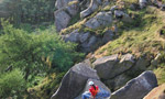 The Roaches, rock climbing in England