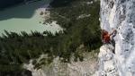 Lago di Landro, sport climbing in the Dolomites