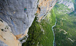 Verdon Gorge rock climbing in France