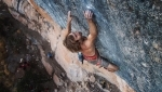 Chris Sharma repeats Joe Mama 9a+ at Oliana