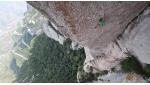 Edu Marin climbing Tarragó Plus at Montserrat