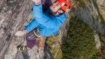 Jozef Kristoffy climbs Corona at Jastrabia veza, the hardest multi-pitch in Slovakia's Tatras