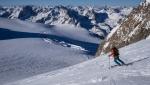 Ski mountaineering up Wildspitze, Austria's second highest mountain