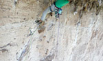 La lingua pura 7c, new multi-pitch climb on Monte Monaco, Sicily