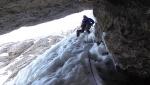Julian Alps, new winter climb on Cima Verde del Montasio