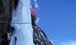 Leichtfried and Purner do the Moonwalk, the longest icefall in Austria