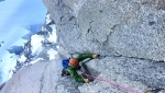 El Chico, Dry tooling enchainment by Bonino and Colay up Pyramide Du Tacul, Mont Blanc
