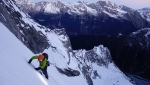 Piz Badile Cassin route climbed in winter by Luca Godenzi and Carlo Micheli