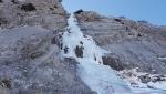 Cascata delle Ciavole (La Delicata), la cascata di ghiaccio più a sud d'Italia