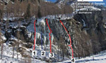 New icefalls at Lys Balma, Gressoney