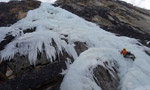Ice climbing in the Valle di Cogne, Valle d'Aosta, Italy