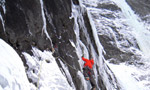 Centercourt WI7+, new extreme ice climb in Austria's Gasteinertal by Leichtfried and Purner