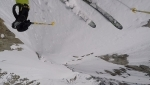 Grandes Jorasses Pointe Whymper / Denis Trento skis SW Couloir