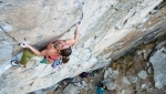 Gondo Crack climbed trad by Jacopo Larcher and Barbara Zangerl