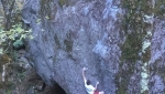 Giuliano Cameroni climbs best problem ever in Valle Bavona