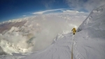 Hervé Barmasse and David Göttler, 13 hours up the South Face of Shisha Pangma