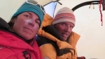 Simone Moro and Tamara Lunger end Kangchenjunga Skyline Project