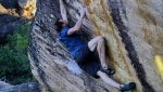 Ned Feehally flashes 8B+ boulder in Rocklands