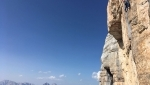 Federica Mingolla climbs Vertical Chimera on Civetta, Dolomites