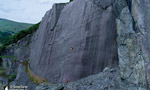 Rainbow Slab, Llanberis slate climbing in North Wales