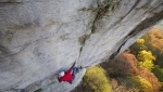 James Pearson climbs Power Ranger, bold and beautiful trad at Chattanooga