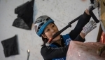 Ice Climbing World Cup 2018, Han Na Rai Song, Alexey Dengin win in Saas Fee