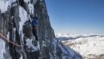 David Lama climbs Sagzahn - Verschneidung in Valsertal, Austria