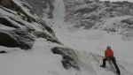 Avers Valley ice climbing / new variation Risiko to Thron in Switzerland