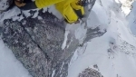 David Lama solo first ascent of Hohe Kirche Nord Pfeiler in Valsertal