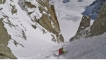 Couloir Sud Est du Grand Capucin on Mont Blanc skied by Davide Capozzi, Denis Trento