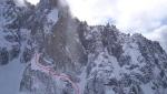 La ceinture des Drus descent on Aiguille du Dru