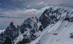 Grivel - Chabod, Aig. Blanche de Peuterey, ski descent