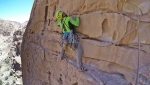 Rock climbing in Jordan: new rock climbs at Wadi Sulam